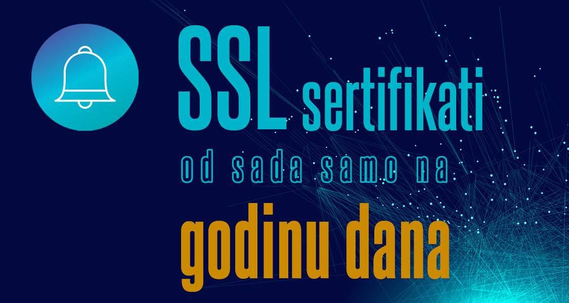 SSL sertifikati od sada na godinu dana